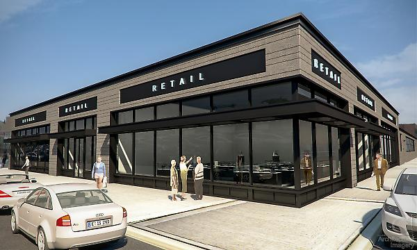 Proposed new retail facade