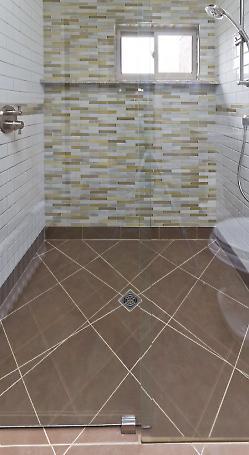 curbless shower detail
