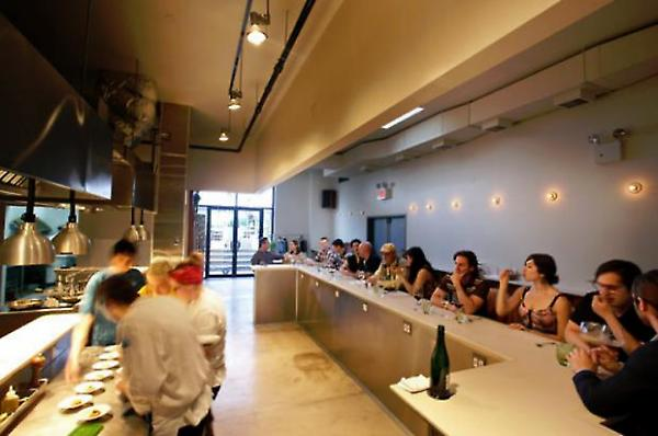 view at counter towards garden (photo: NYTimes)