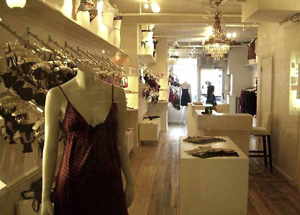 overall view of boutique