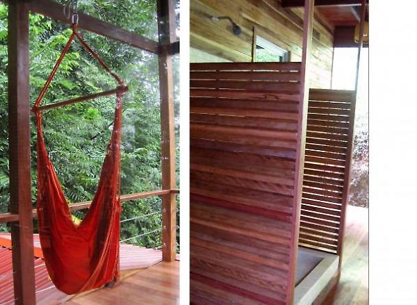 hammock and exterior shower