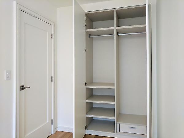 built-in closet detail