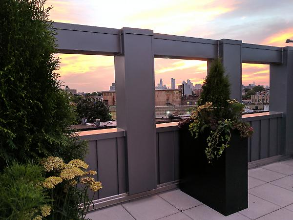 framed parapet at rooftop