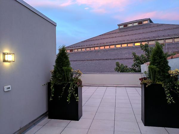 rooftop terrace view towards armory