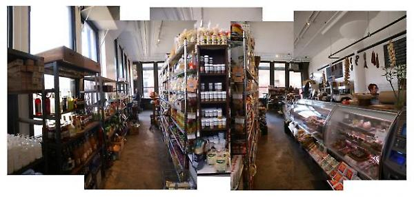 panoramic view of store