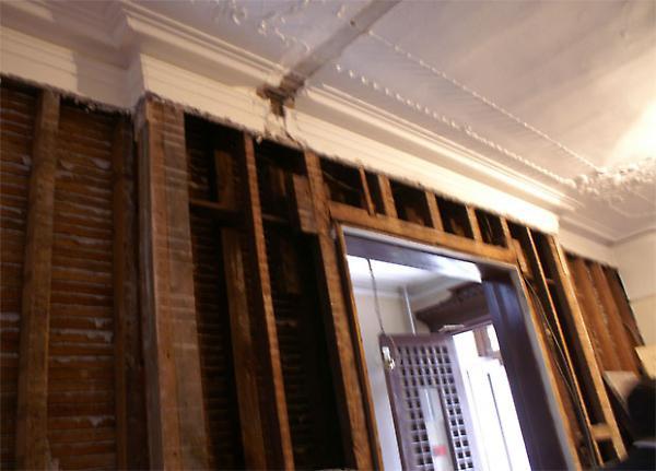 preserved plaster ceiling