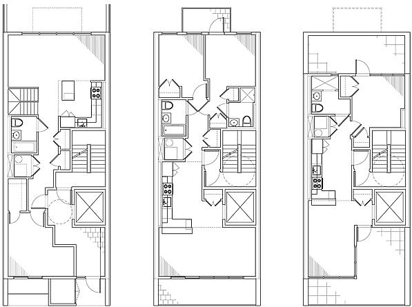ground floor plan / 2nd - 4th floor plan /  5th floor plan