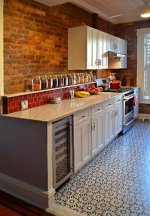 kitchen view and flooring detail