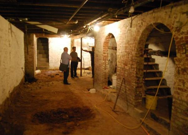 cellar floor under construction