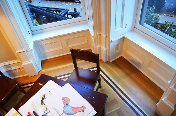 millwork detail at bay window