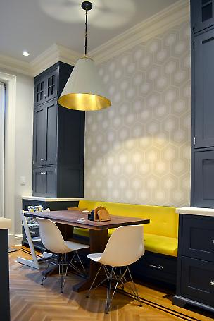 built-in dining area at kitchen