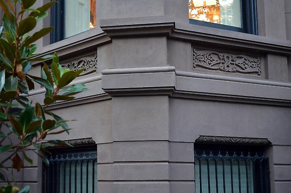 exterior brownstone detail