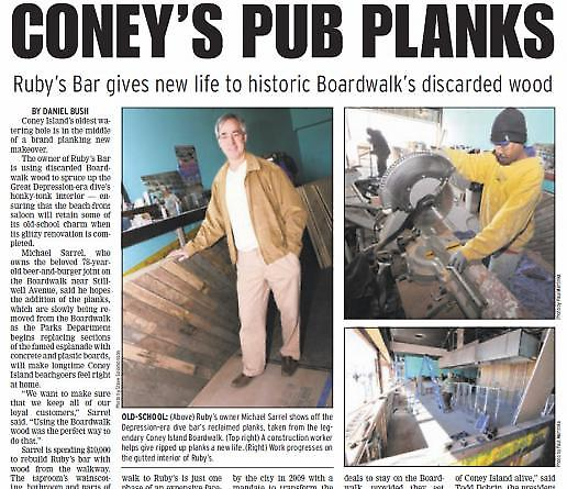 """Coney's Pub Planks"" from the Brooklyn Courier, April 06, 2012"
