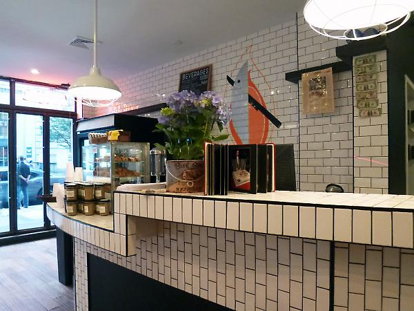 interior detail at counter