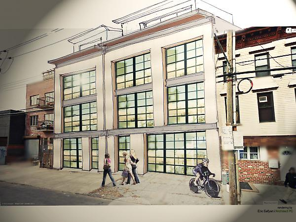 proposed rendering of 2 attached townhouses